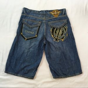 Mens W36 Vintage COOGI Jean Shorts Denim Blue